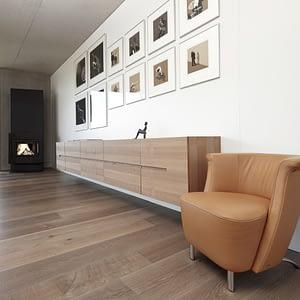 Kaminzimmer Parkettboden Wohnzimmer Stegemann Luxemburg